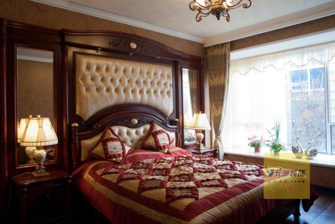 欧式 三居 卧室图片来自用户2746889121在25万装中间建筑160平简欧混搭三居19的分享