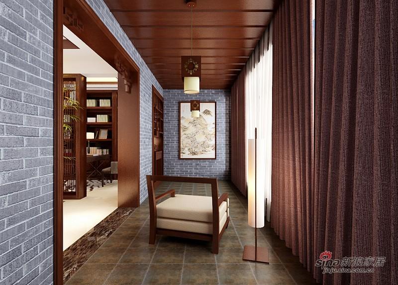 中式 四居 阳台图片来自用户1907661335在曼妙260平中式旭日东升吉祥家72的分享