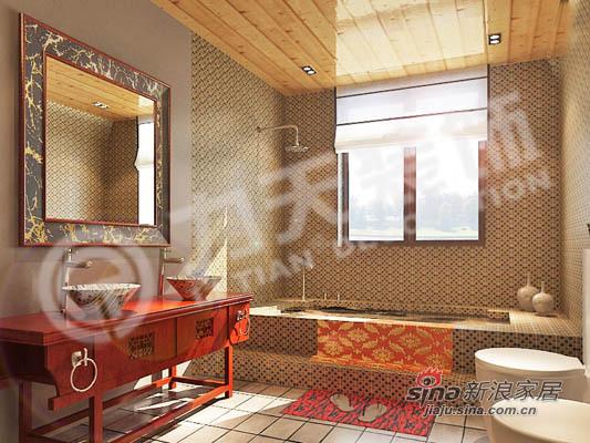 中式 二居 卫生间图片来自阳光力天装饰在中式花格月亮门12的分享