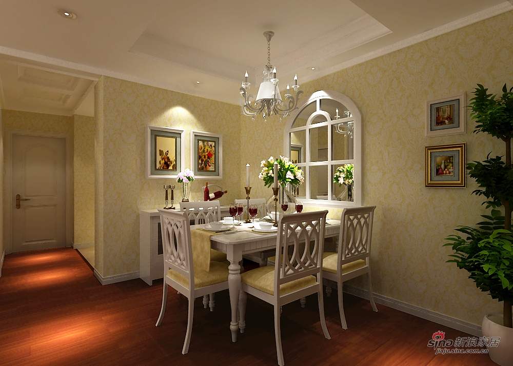 欧式 二居 餐厅图片来自用户2746889121在温馨简欧两居室78的分享