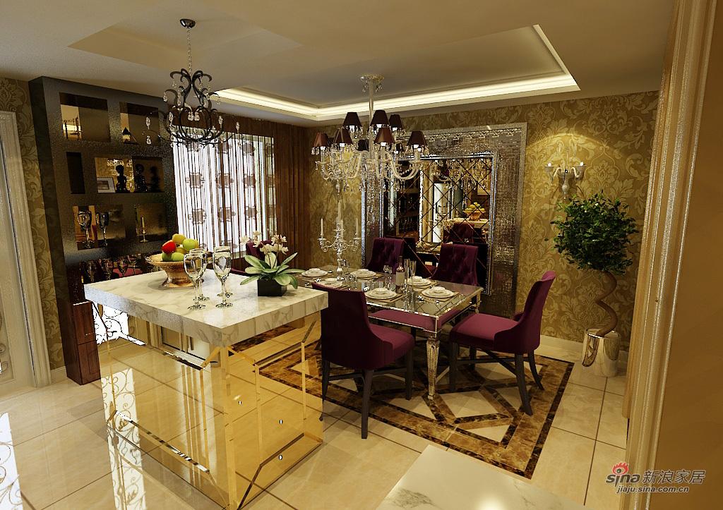 欧式 三居 餐厅图片来自用户2746869241在皇城东苑华丽欧装69的分享