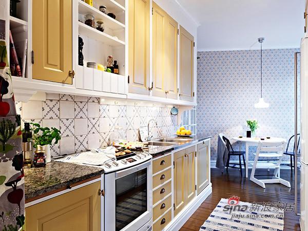 厨房以黄色为主调,非常有个性