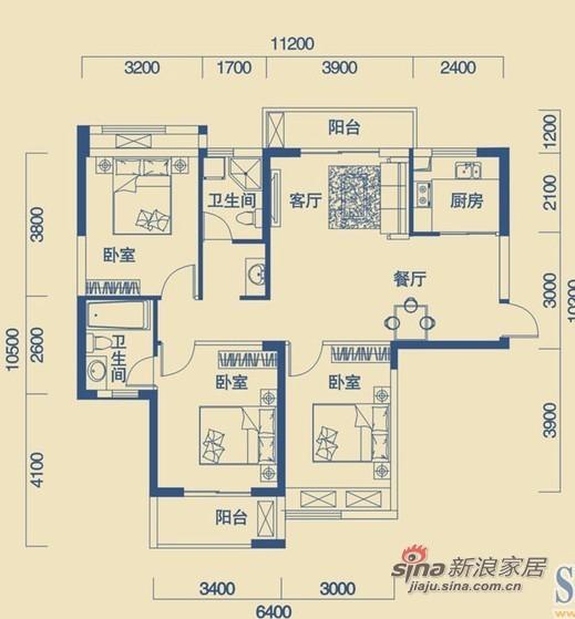 年轻夫妻打算119平简约风格三居室