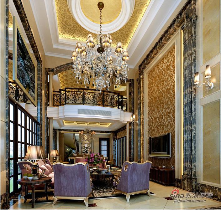 新古典 复式 客厅图片来自用户1907701233在280平古典欧式别墅装修设计79的分享