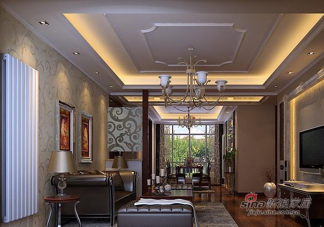 欧式 二居 客厅图片来自用户2757317061在90平米欧式奢华风格21的分享