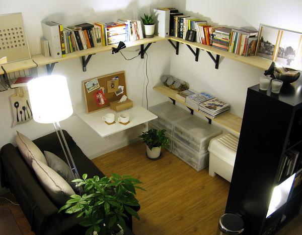 小户型打造多功能区域,书房,休息室,客厅统统都有~