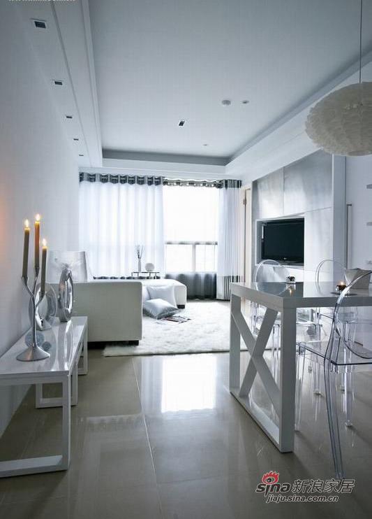 北欧 二居 客厅图片来自佰辰生活装饰在小两口72平现代北欧极简小空间48的分享