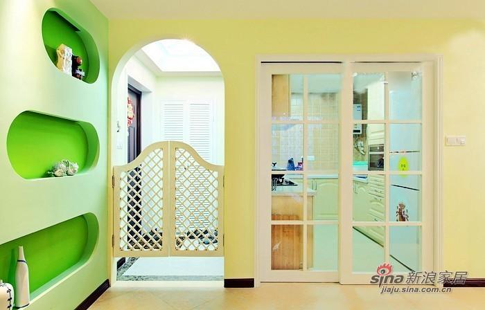 现代 二居 厨房图片来自佰辰生活装饰在小两口晒70平绿色清新婚房68的分享