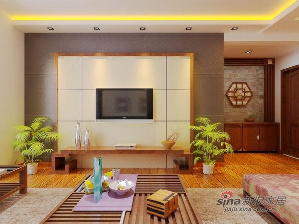中式 三居 客厅图片来自用户1907696363在中式混搭简约家91的分享