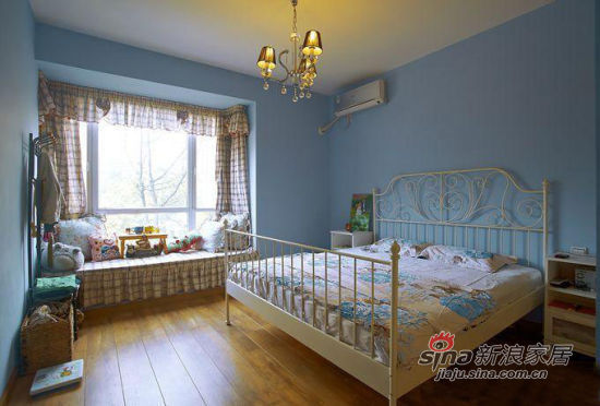 田园 三居 卧室图片来自用户2557006183在实景10万装120平地中海乡村美家35的分享
