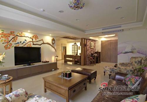 中式 三居 客厅图片来自用户1907661335在怀旧中式乡村风格68的分享