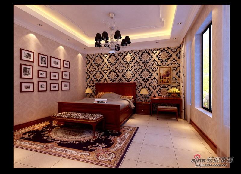 欧式 别墅 卧室图片来自用户2745758987在孔雀城227平现代欧式风格别墅设计22的分享
