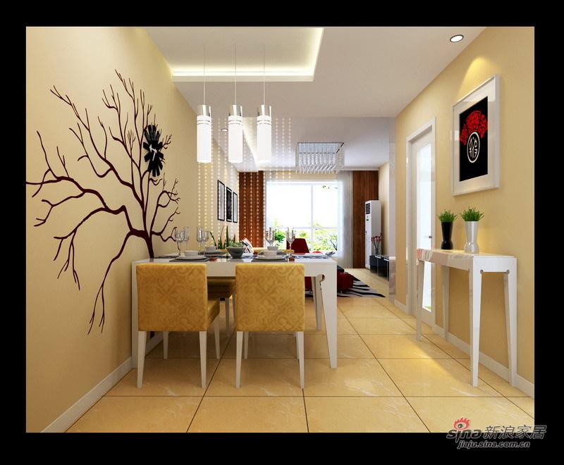 简约 一居 餐厅图片来自用户2738813661在63平简洁时尚一居67的分享