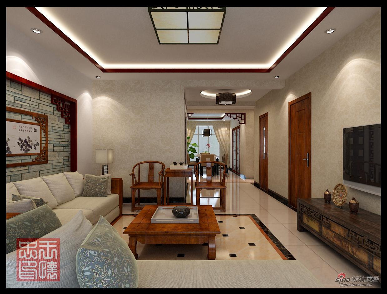中式 四居 客厅图片来自用户1907696363在165平中式风格16的分享