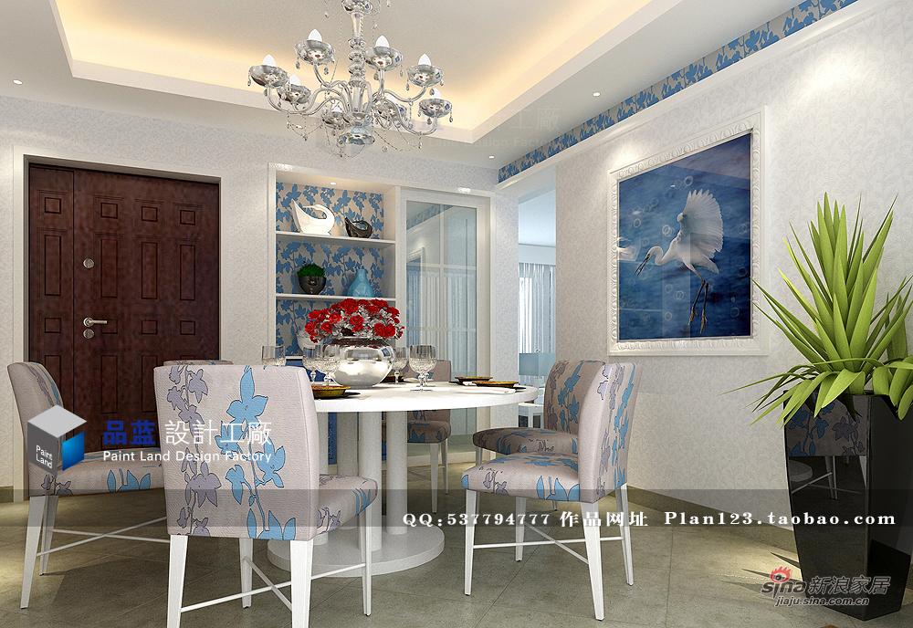田园 四居 餐厅图片来自用户2557006183在《蓝色恋人》--155平米样板房68的分享