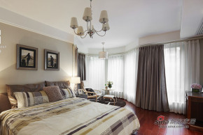 港式 二居 卧室 舒适 白富美 舒适 温馨图片来自用户1907650565在【高清】86平现代港式风情两居室44的分享