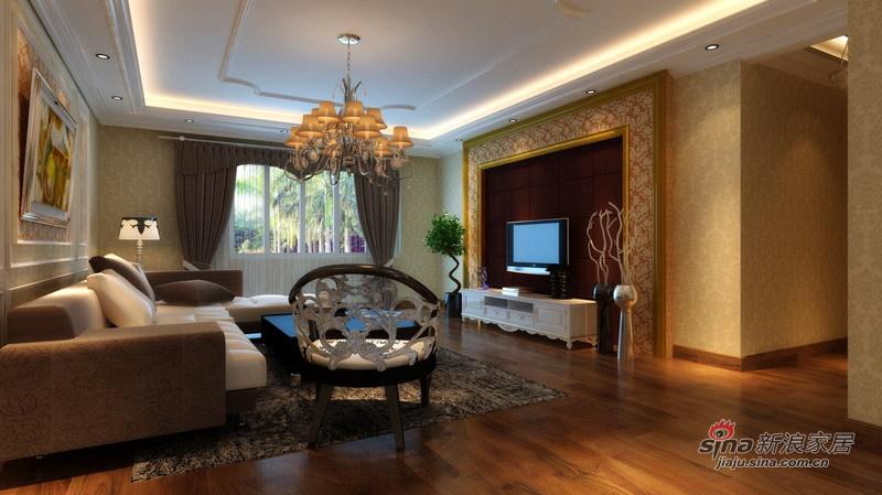 欧式 四居 客厅图片来自用户2746869241在10万精装180㎡欧式四居室81的分享