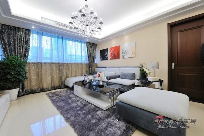 简约 三居 客厅图片来自用户2737782783在都市风情6.5万晒120平简约明亮三居77的分享