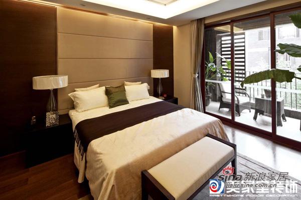 中式 别墅 卧室图片来自用户1907696363在30万装360平新中式大气别墅34的分享