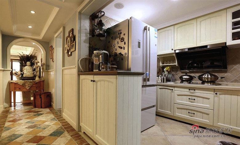 地中海 复式 厨房图片来自用户2756243717在【高清】中年夫妻160平地中海混搭复式67的分享