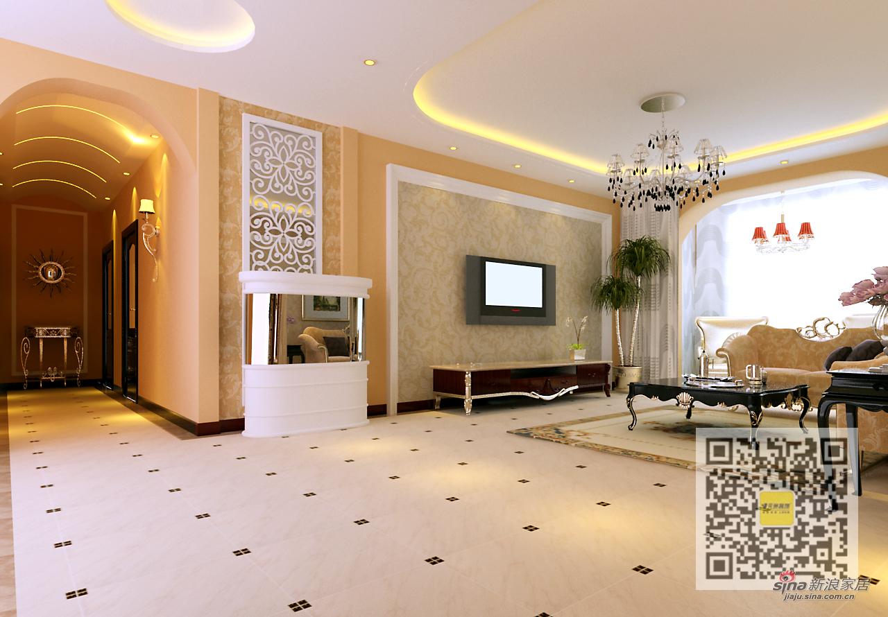 欧式 三居 客厅图片来自用户2746869241在中海城160平现代简约64的分享