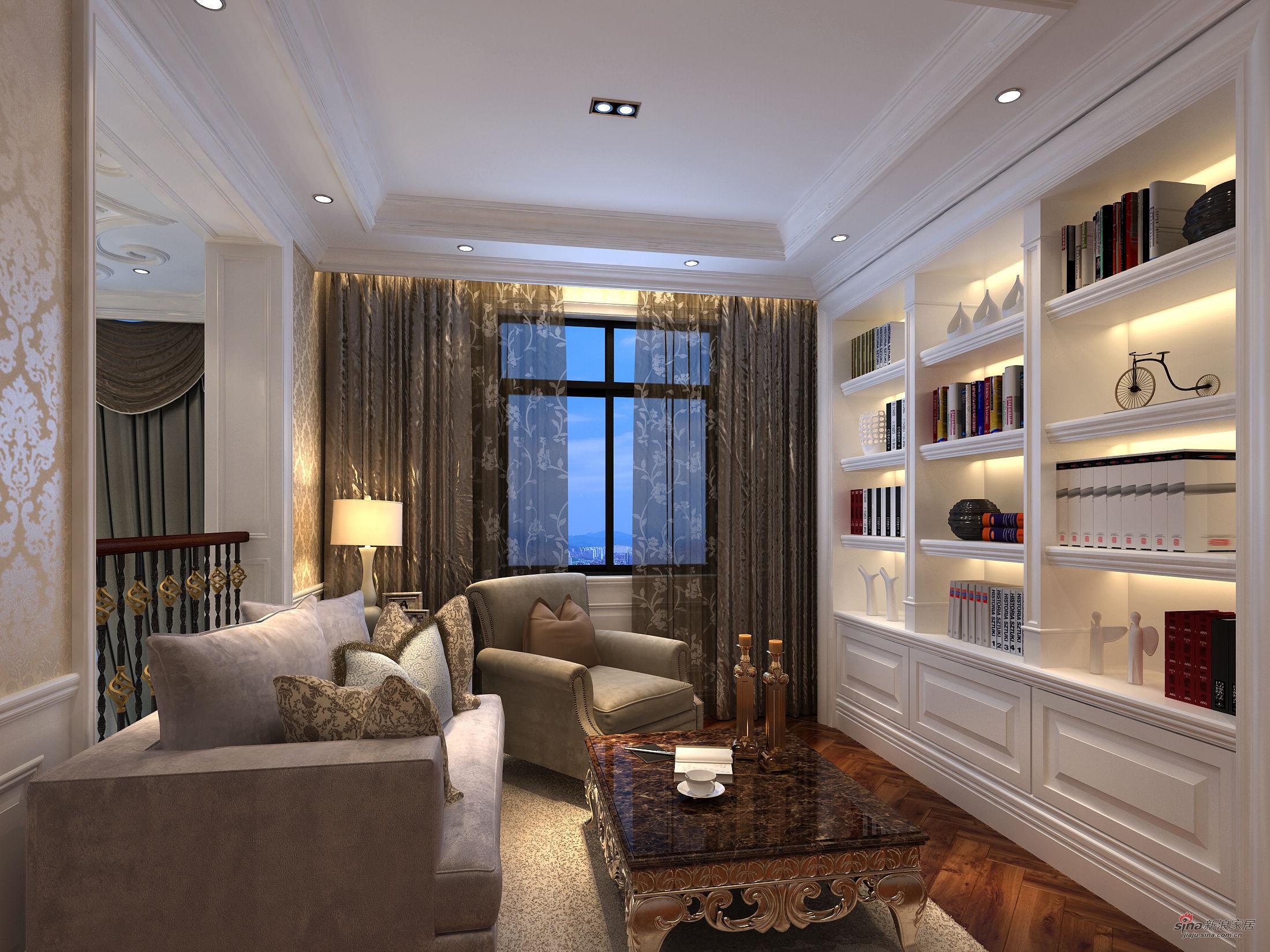 新古典 别墅 书房图片来自用户1907701233在提香.草堂大别墅新古典典范43的分享