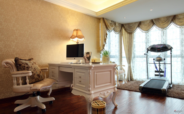 欧式 别墅 书房图片来自用户2772856065在【高清】380平跃层新古典大豪宅86的分享