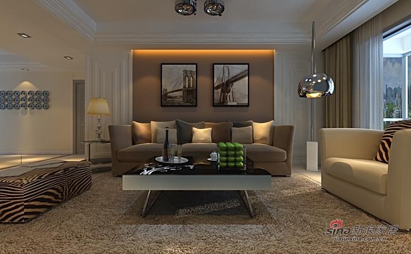 简约 三居 客厅图片来自用户2739378857在简约蓝色白调3居78的分享