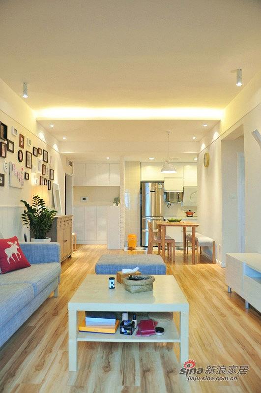 北欧 二居 客厅图片来自佰辰生活装饰在54平清新完美宜家风2室1厅55的分享