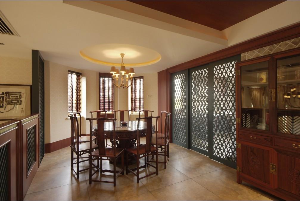 中式 别墅 餐厅图片来自用户1907659705在尽显 中式情节27的分享