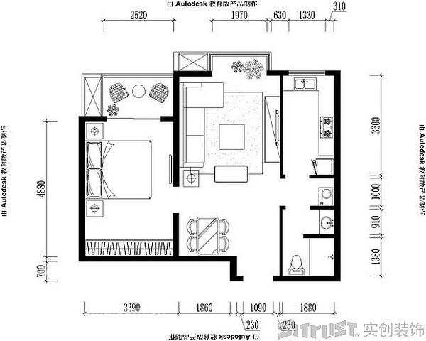 简约 一居 客厅图片来自用户2557010253在精彩一居风情家园27的分享