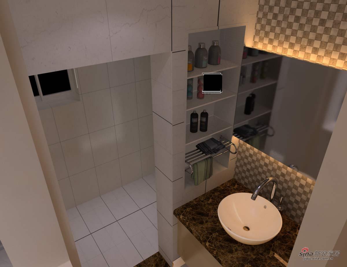 简约 三居 卫生间图片来自用户2737759857在133平三居室完工图68的分享
