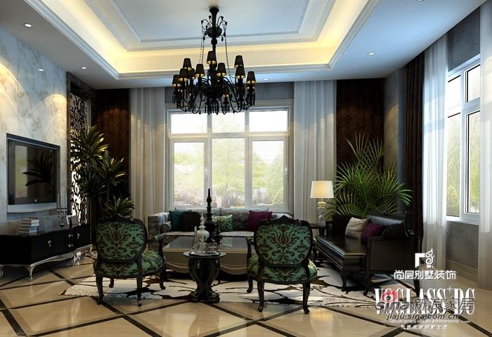 混搭 别墅 客厅图片来自用户1907689327在568平新奢华保利垄上14的分享