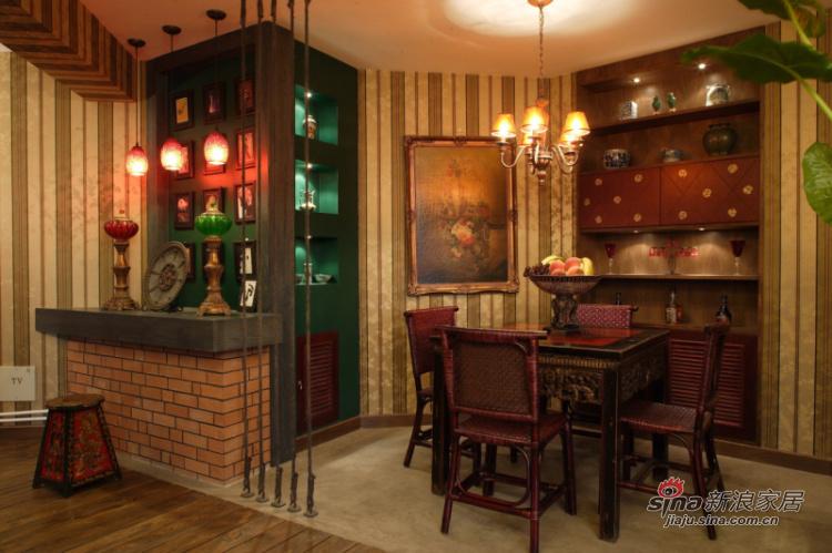 中式 四居 餐厅图片来自用户1907662981在【多图】新混搭177平中式风格89的分享
