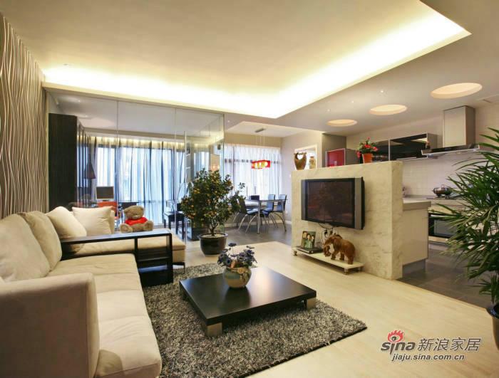 简约 二居 客厅图片来自用户2737735823在7万打造105平现代简约婚房55的分享