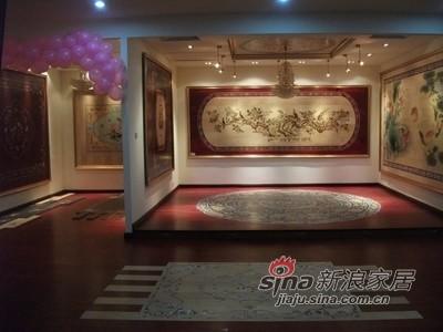 青花地板样品间展厅