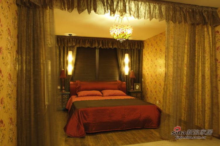 中式 四居 卧室图片来自用户1907662981在【多图】新混搭177平中式风格89的分享