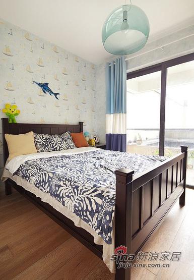 美式 三居 卧室图片来自用户1907685403在140平美式风格三居室39的分享
