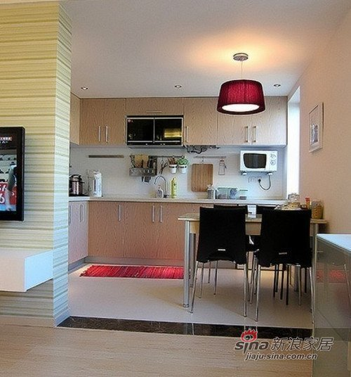 美式 二居 餐厅图片来自用户1907686233在小夫妻60平美式简约两居室11的分享