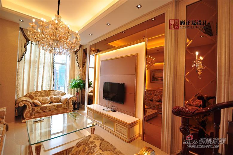 欧式 四居 客厅图片来自用户2746869241在【高清】180平米欧式高档豪华复式公寓37的分享