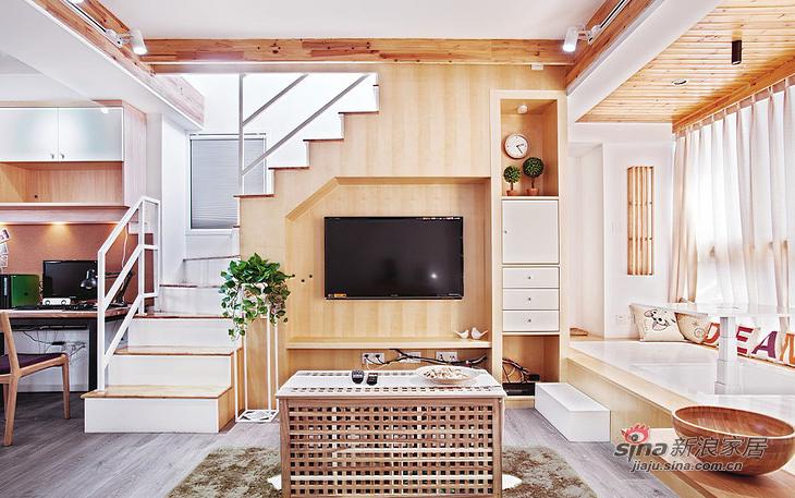 简约 loft 客厅图片来自用户2737950087在【高清】超清爽70平日式素雅loft16的分享
