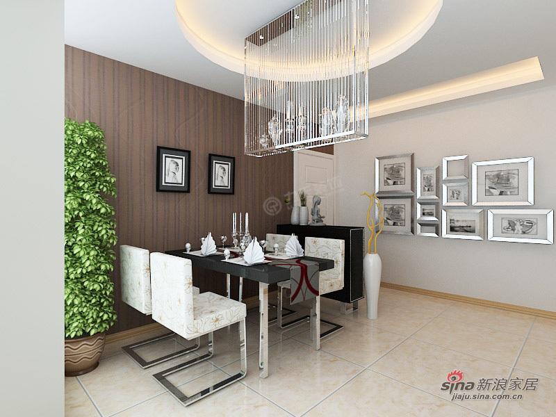 简约 三居 餐厅图片来自用户2737759857在嘉春园127㎡-三室两厅-现代简约设计案例35的分享