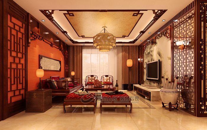中式 三居 客厅图片来自城市人家犀犀在天津城市人家 中式风情51的分享
