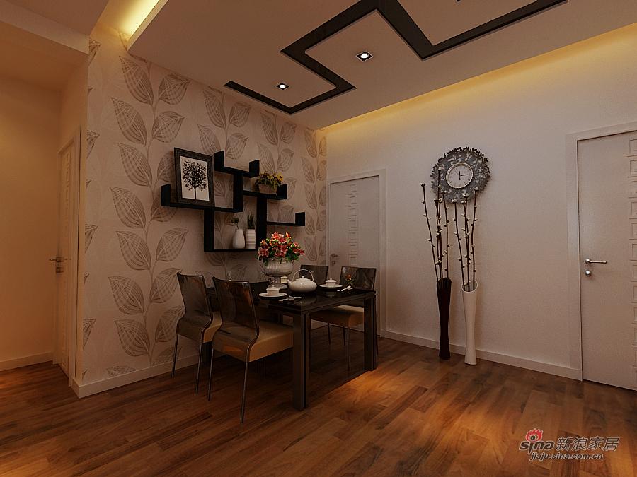 简约 二居 餐厅图片来自用户2737786973在9万打造南极国际现代简约两居室74的分享