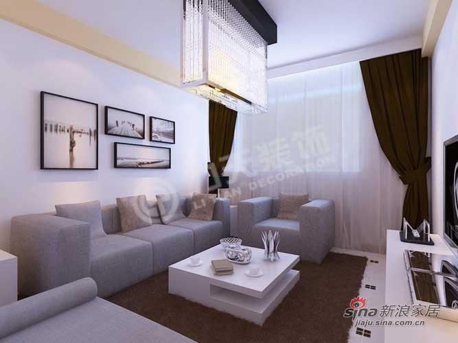 简约 二居 客厅图片来自阳光力天装饰在天鹅湖1号84平米现代简约32的分享