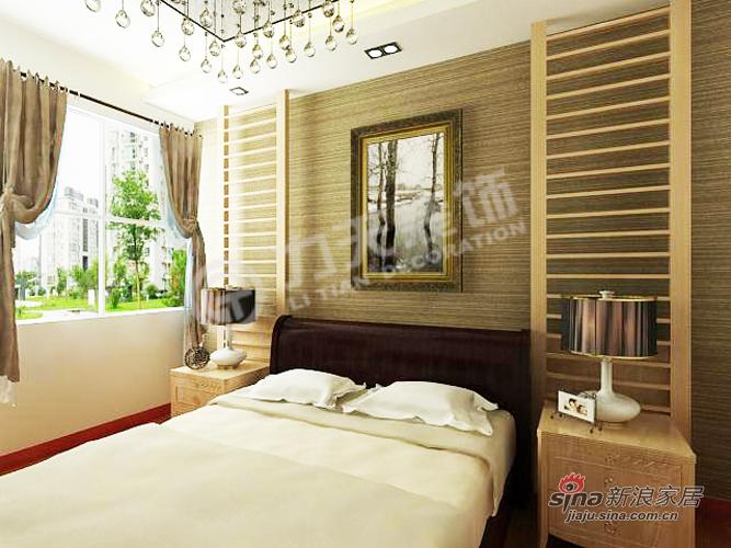 中式 二居 卧室图片来自用户1907659705在89平米混搭环保中式两居43的分享