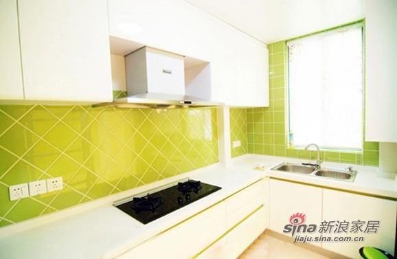 混搭 三居 厨房图片来自用户1907689327在10万装87平时尚多彩三居小错层79的分享