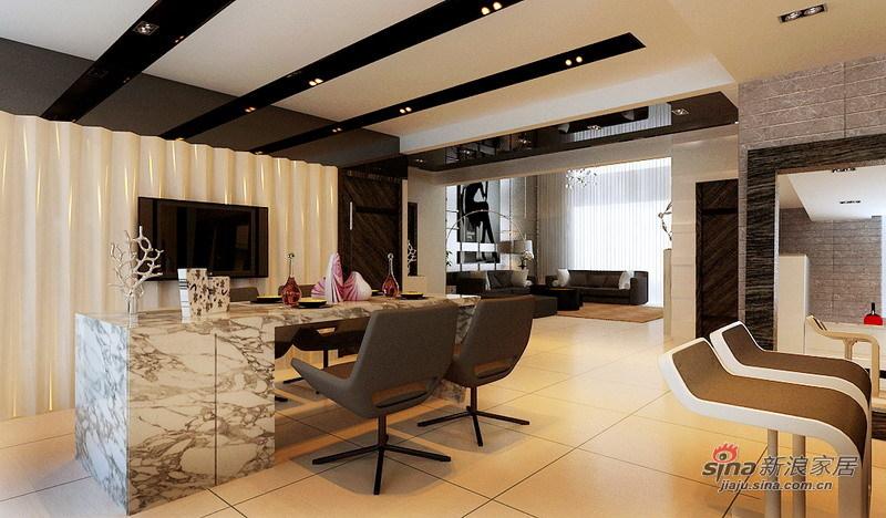 简约 四居 餐厅图片来自用户2738845145在看140㎡格林创意空间 巧夺天工12的分享