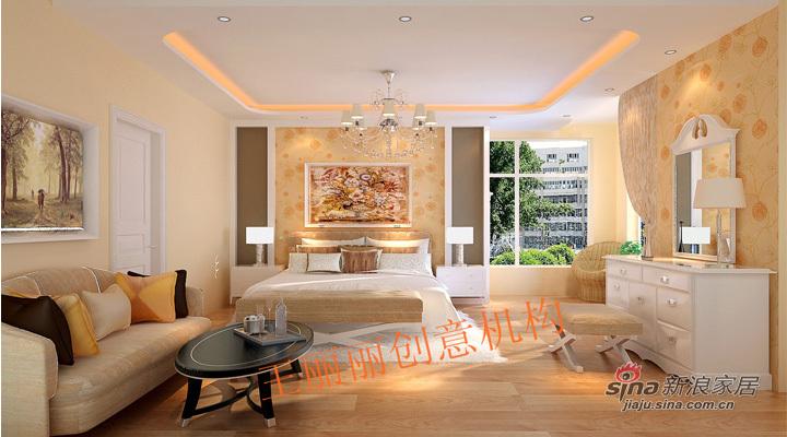 欧式 二居 卧室图片来自用户2746948411在13万打造城市亮点198平豪华简欧3居室29的分享