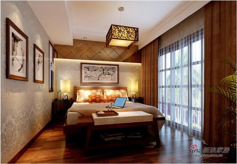 中式 别墅 卧室图片来自用户1907659705在260平中西结合庄重优雅别墅设计67的分享